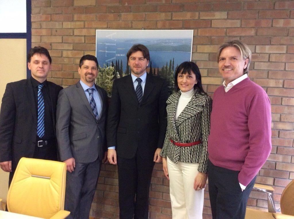 Izaslanstvo 5. HTI Konfrenercije u KT na završnom  primanju kod ministra turizma D. Lorenzina