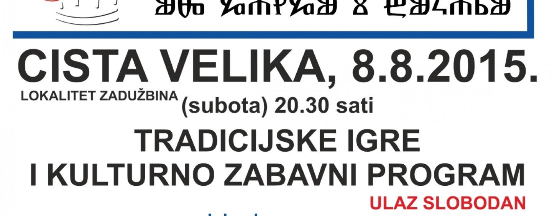 """9. FESTIVAL """"SPOJ HRVATSKOG SJEVERA I JUGA-UZ GANGU I BUKARU"""""""