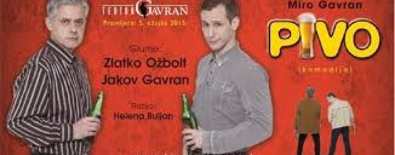 "TEATAR GAVRAN POČINJE SEZONU TURNEJOM S KOMEDIJOM ""PIVO"""