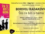 PROMOCIJA NOVOG ROMANA BORIVOJA RADAKOVIĆA