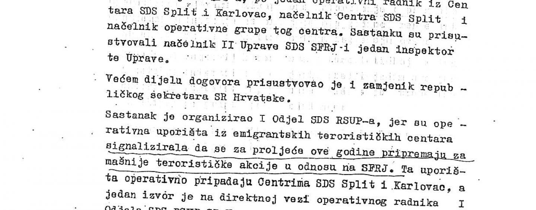 TKO JE UDBI DOJAVIO ZA SASTANAK BRUNE BUŠIĆA I ANTE BUTKOVIĆA 2. SIJEČNJA 1977.?
