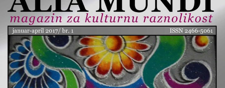 """ALIA MUNDI"" ČASOPIS ZA KULTURNU RAZNOLIKOST"