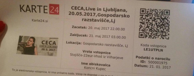"NA CECIN KONCERT U LJUBLJANI DOŠAO ""CEO"" ZAGREB"