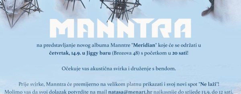"NOVI ALBUM GRUPE ""MANNTRA"" U JIGGY BARU"