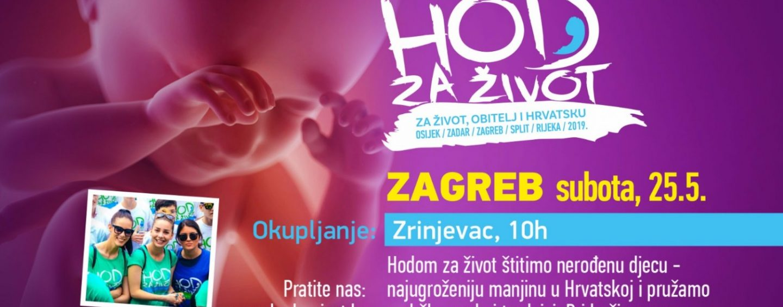 HOD ZA ŽIVOT U ZAGREBU